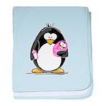 new baby girl Penguin baby blanket