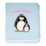 Little Sister penguin baby blanket