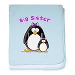 Big Sister penguin baby blanket