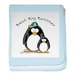 Best Big Brother penguins baby blanket