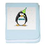 Senior Party Penguin baby blanket