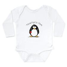 Teachers Pet Penguin Long Sleeve Infant Bodysuit