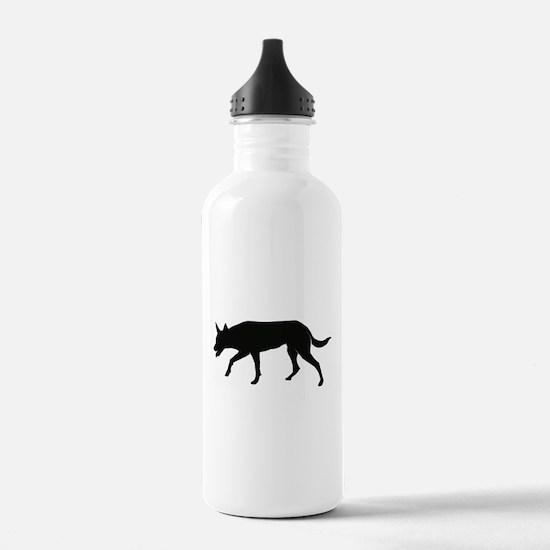 Working Australian Kelpie Water Bottle