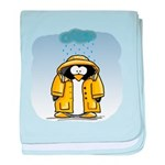 Rainy Day Penguin baby blanket