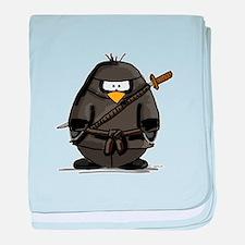 Martial Arts ninja penguin baby blanket