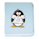 Love Tux Penguin baby blanket