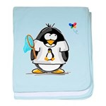 linux vs windows Penguin baby blanket