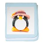 Sunflower Hat Clay Penguin baby blanket