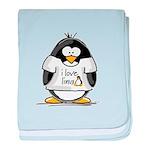 love linux Penguin baby blanket