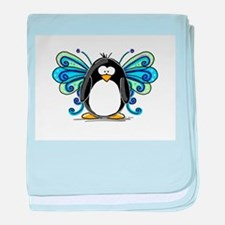 Blue Fairy Penguin baby blanket