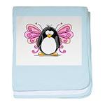 Pink Fairy Penguin baby blanket
