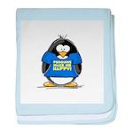 Penguins Make Me Happy Pengui baby blanket