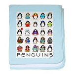 Lots of Penguins baby blanket