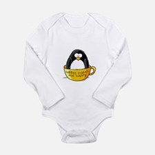 Coffee penguin Long Sleeve Infant Bodysuit