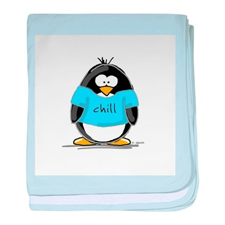 Chill penguin baby blanket