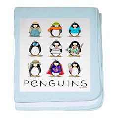 9 Penguins baby blanket