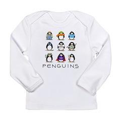 9 Penguins Long Sleeve Infant T-Shirt