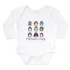 9 Penguins Long Sleeve Infant Bodysuit