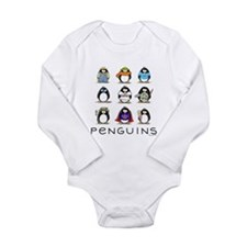 9 Penguins Long Sleeve Infant Bodysuit
