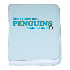 Blame Penguins baby blanket