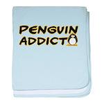 Penguin Addict baby blanket
