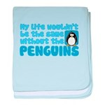 Without Penguins baby blanket
