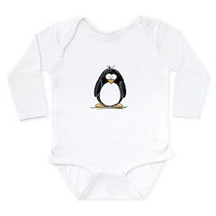 Penguin Long Sleeve Infant Bodysuit