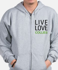 Live Love Collies Zip Hoodie