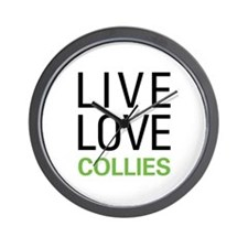 Live Love Collies Wall Clock