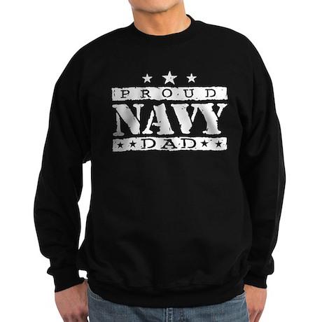 Proud Navy Dad Sweatshirt (dark)