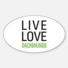 Live Love Dachshunds Decal