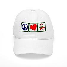 PEACE-LOVE-CANDYCANE Baseball Cap