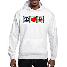 PEACE-LOVE-CANDYCANE Hoodie