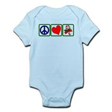 PEACE-LOVE-CANDYCANE Infant Bodysuit