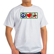 PEACE-LOVE-CANDYCANE T-Shirt