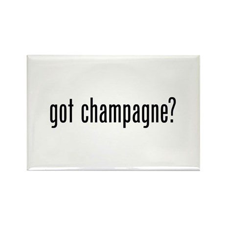 Got Champagne Rectangle Magnet