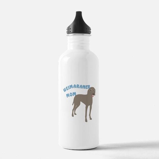 Weimaraner Mom Water Bottle