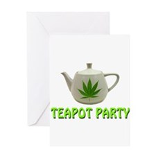 Teapot Party Greeting Card