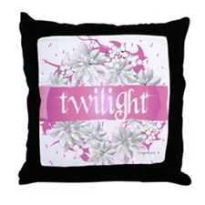 Twilight Christmas Pink by Twibaby Throw Pillow