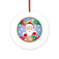 Santa Head Ornament (Round)