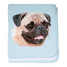 Pug Dog baby blanket