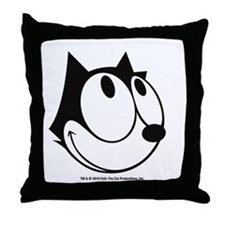 Happy Felix Throw Pillow