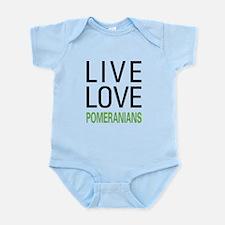 Live Love Pomeranians Infant Bodysuit