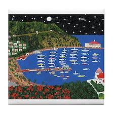 Cute Catalina island Tile Coaster