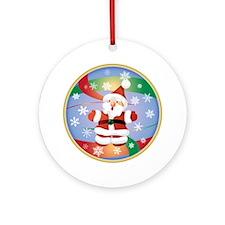 Singing Santa Ornament (Round)