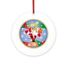 Megaphone Santa Ornament (Round)