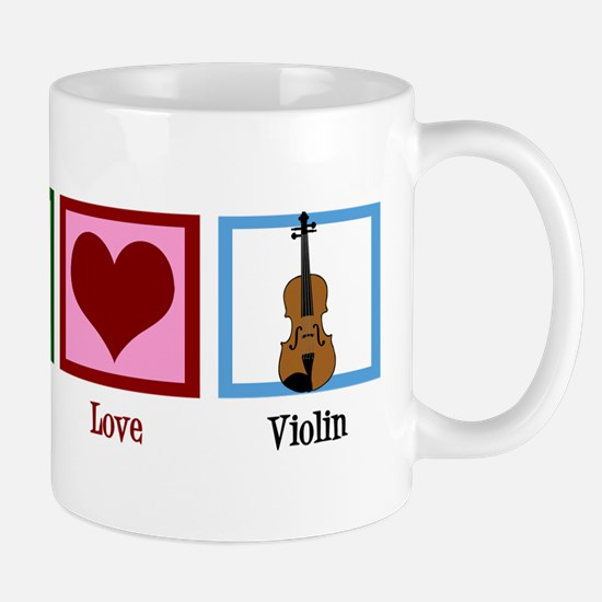 Peace Love Violin Mug