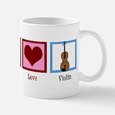 Peace Love Violin Small Small Mug