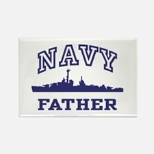 Navy Father Rectangle Magnet