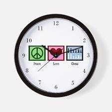Peace Love Chess Wall Clock